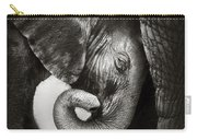 Baby Elephant Seeking Comfort Carry-all Pouch