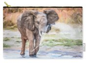Baby Elephant Spraying Water Carry-all Pouch