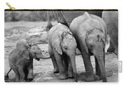 Baby Elephant Trio Bw Carry-all Pouch
