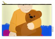 Baby Holding Teddy Bear Carry-all Pouch