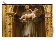 Baby Jesus And A Monk Sculpture Carry-all Pouch