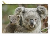 Baby Koala With Mom Carry-all Pouch