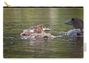 Baby Loons And Mom Carry-all Pouch