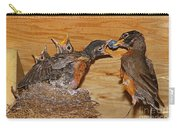 Baby Robins Feeding  An5141-14 Carry-all Pouch