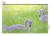 Baby Swans Enjoy A Summer Day Carry-all Pouch