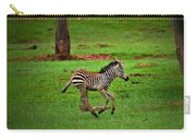 Baby Zebra Running Carry-all Pouch
