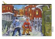Back Lane Hockey Shoot Out By Prankearts Carry-all Pouch