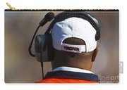 Back Of Mike London Head With Headset Virginia Cavaliers Carry-all Pouch by Jason O Watson