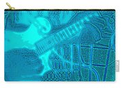 Back Porch Pickin' Pop Art In Blue Carry-all Pouch