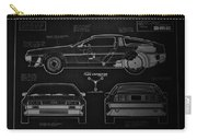 Back To The Future Delorean Blueprint 1 Carry-all Pouch