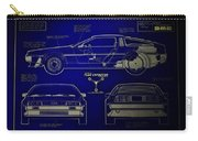 Back To The Future Delorean Blueprint 2 Carry-all Pouch
