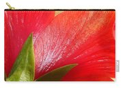 Back View Of A Beautiful Bright Red Hibiscus Flower Carry-all Pouch