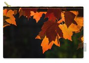 Backlit Autumn Maple Leaves Carry-all Pouch
