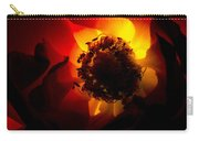 Backlit Flower Carry-all Pouch by Fabrizio Troiani