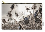 Backlit Winter Reeds Carry-all Pouch by Elena Elisseeva
