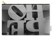 Backside Of Hope In Black And White Carry-all Pouch