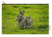 Backyard Bunny In Black White And Green Carry-all Pouch