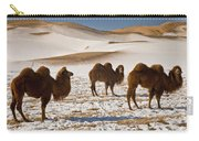 Bactrian Camel Trio Khongor Sand Dunes Carry-all Pouch