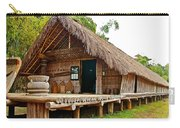 Bahnar Home With Extension As Family Grows At Museum Of Ethnology In Hanoi-vietnam  Carry-all Pouch