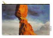 Balanced Rock At Sunset Digital Painting Carry-all Pouch