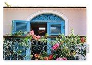 Balcony Blue By Diana Sainz Carry-all Pouch