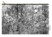 Bald Cypress Swamp In Black And White Carry-all Pouch