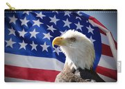 Bald Eagle And American Flag Carry-all Pouch