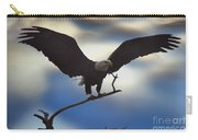 Bald Eagle And Clouds Carry-all Pouch