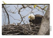Bald Eagle And Eaglet Carry-all Pouch