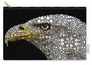 Bald Eagle Art - Eagle Eye - Stone Rock'd Art Carry-all Pouch by Sharon Cummings