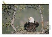 Bald Eagle Calling On Nest Alaska Carry-all Pouch