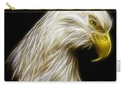 Bald Eagle Fractal Carry-all Pouch