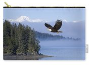 Bald Eagle In Flight Over The Inside Carry-all Pouch