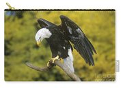 Bald Eagle In Perch Wildlife Rescue Carry-all Pouch
