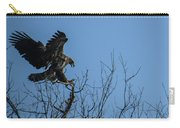 Bald Eagle Juvenile Landing In Tree Top Carry-all Pouch