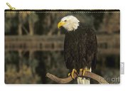 Bald Eagle On Dead Snag Wildlife Rescue Carry-all Pouch