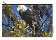 Bald Eagle On Nest Near The Oxbow Carry-all Pouch