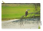 Bald Eagle Overlooking Yellowstone River Carry-all Pouch