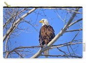 Bald Eagle Perched Carry-all Pouch