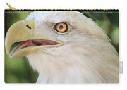 American Bald Eagle Portrait - Bright Eye Carry-all Pouch