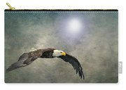 Bald Eagle Textured Art Carry-all Pouch