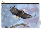Bald Eagle Touch Of Pride Carry-all Pouch
