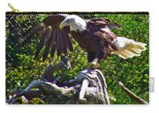Bald Eagle With A Broken Wing In Salmonier Nature Park-nl Carry-all Pouch