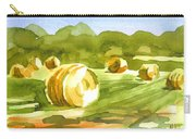 Bales In The Morning Sun Carry-all Pouch by Kip DeVore