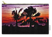 Bali Sunset Impasto Paint Version Carry-all Pouch