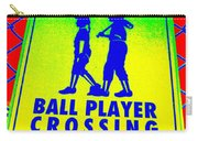 Ball Player Crossing Carry-all Pouch