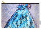 Ballerina In Blue Carry-all Pouch