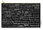 Ballet Terms And Ballerinas 2 Carry-all Pouch