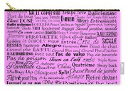 Ballet Terms Black On Pink  Carry-all Pouch