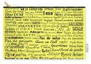 Ballet Terms Black On Yellow Carry-all Pouch